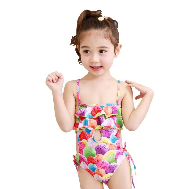 präsentieren wie man serch neuartiger Stil US $18.0 |Baby Girl's One Piece Swimming Wear Bathing Suit Swimsuit  Colorful Ice Cream Printed Children Kinder Swimwear-in Children's One-Piece  Suits ...