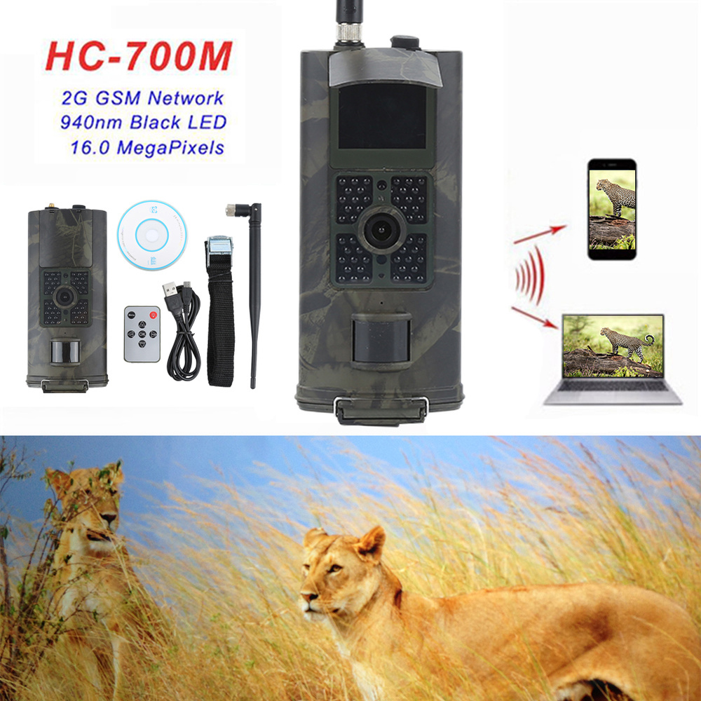 2G HC700M Hunting Camera 16MP Infrared Night Vision Trail Cameras 1080P GSM MMS Wildlife Cam Photo