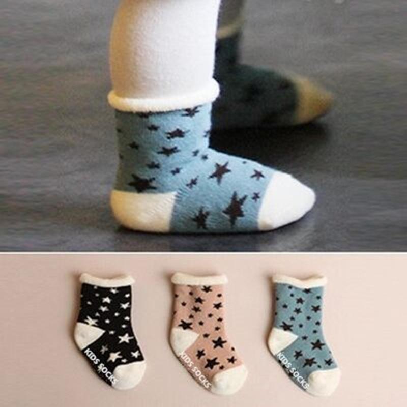 Winter New Born Anti Slip  Baby Terry Socks Toddler Baby Girls/Boys Cotton Socks