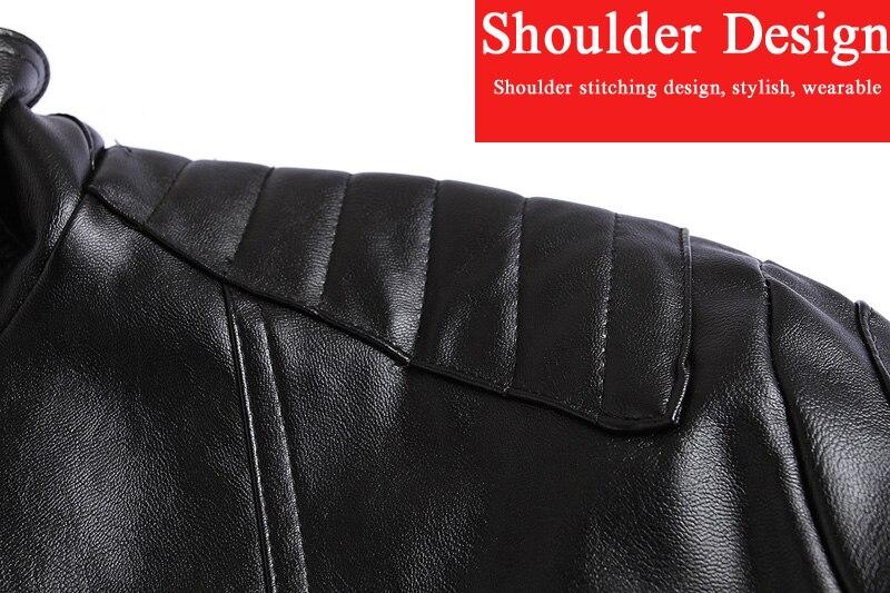 Veste de Moto en cuir PU hommes Vintage rétro Moto Faux Punk vestes en cuir Moto vêtements manteaux Slim Fit taille M-5XL - 3