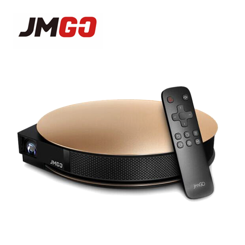 JmGO G3 Pro 1200 ANSI Lumens DLP Projector, Android 4.4 Bluetooth WIFI, Support 4K HD, Home Theater 300 inch (Free Air Mouse)