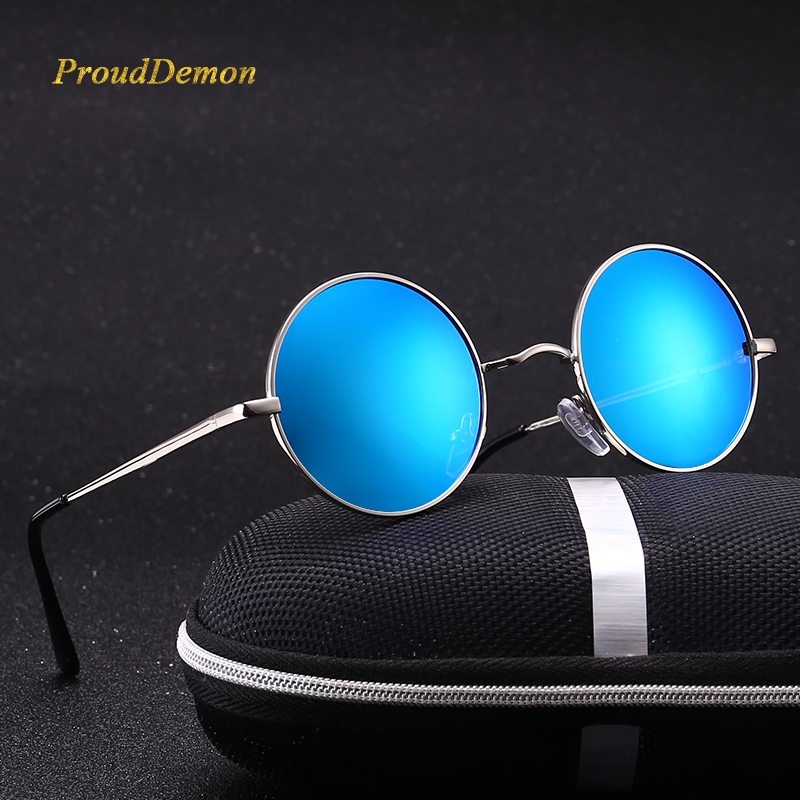 Ray Brand Designer Classic Driving Polarized Round Sunglasses Men Retro John Lennon Glasses Women Metal Spring Leg Eyeglasses