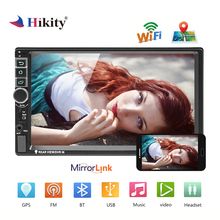 Hikity 2 din Android GPS Car Radio 8802 Universal Car Multimedia Player 7 Inch Mirror link