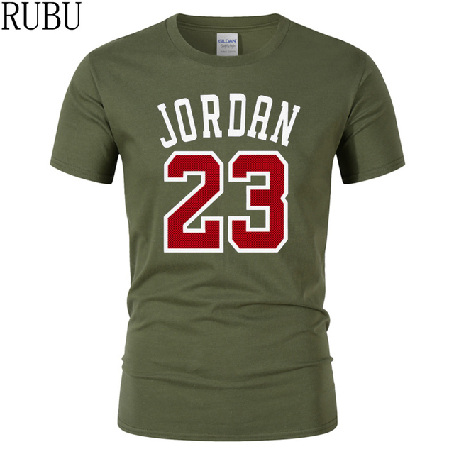 c03bc77107cc rubu 23 jordan t shirt fashion printed 100 cotton short sleeve couple t  shirt design