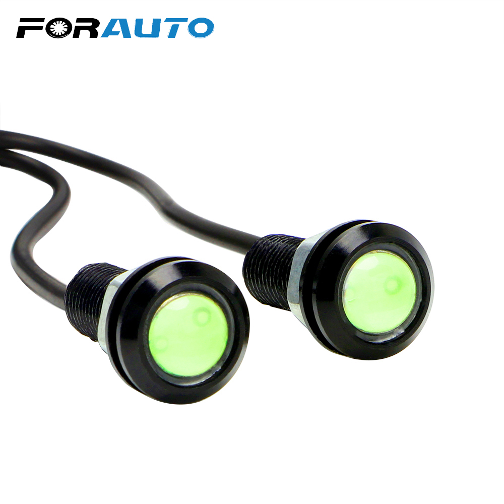 Daytime Running Light Ultrabright <font><b>Headlight</b></font> Eagle Eye Universal COB Led Fog Light 12V DC Car Styling image