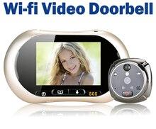 3.7″ LCD Touch Screen Front Door Peephole Camera Wifi Doorbell Wireless Video Door Phone Intertom