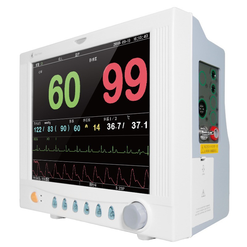 Home multi - parameter monitor PC - 9000B blood pressure blood oxygen temperature pulse rate electrocardiogram heart rate