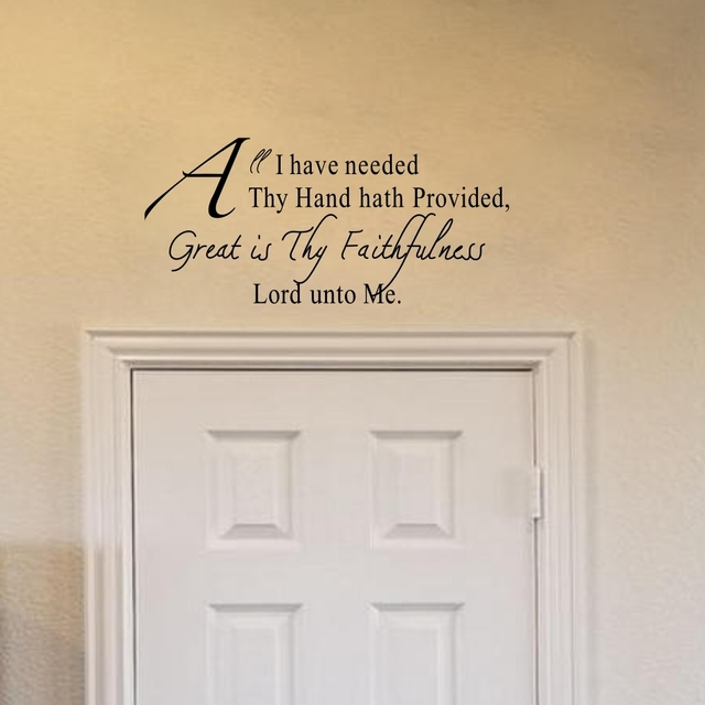Christian Wall Decals Quotes Great Is Thy Faithfulness Lord unto Me ...