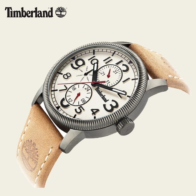 Timberland Original Mens Watches  Leather Calendar Week Quartz Water Resistant Casual Men's Watches T14812