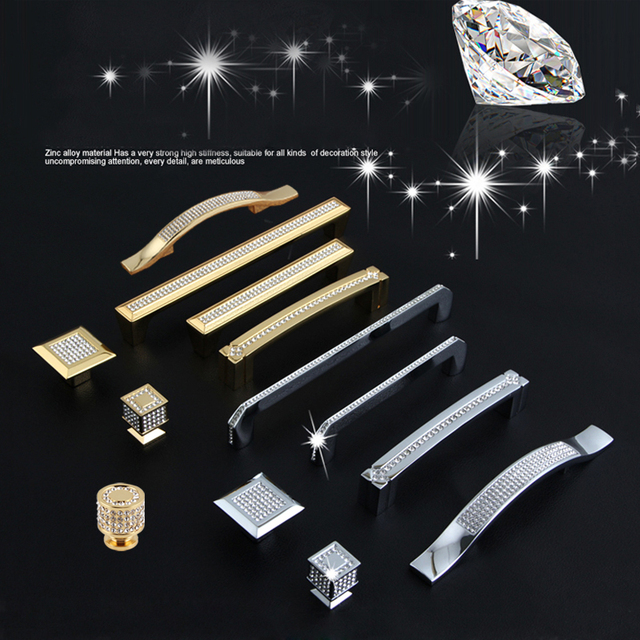 24 karat Echt Gold oder Chrom Tschechische Kristall Schublade ...
