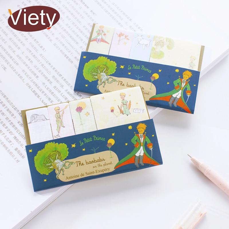 купить 1 x cartoon little prince memo pad sticky notes paper sticker notepad kawaii stationery pepalaria office school supplies по цене 89.76 рублей
