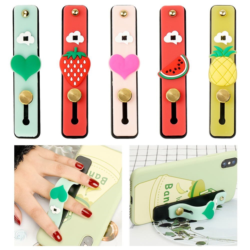 2019 New Cartoon Mobile Phone Holder Smiley Expression Cute Fruit Stand Finger Ring Bracket Mount For IPhone 7 For Samsung A30