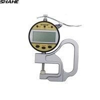 Alta qualidade shahe 0 10 0.01mm medidor de espessura digital com cabeça de medição cerâmica  punho da embalagem do metal|Instrumentos de medição de largura|Ferramenta -
