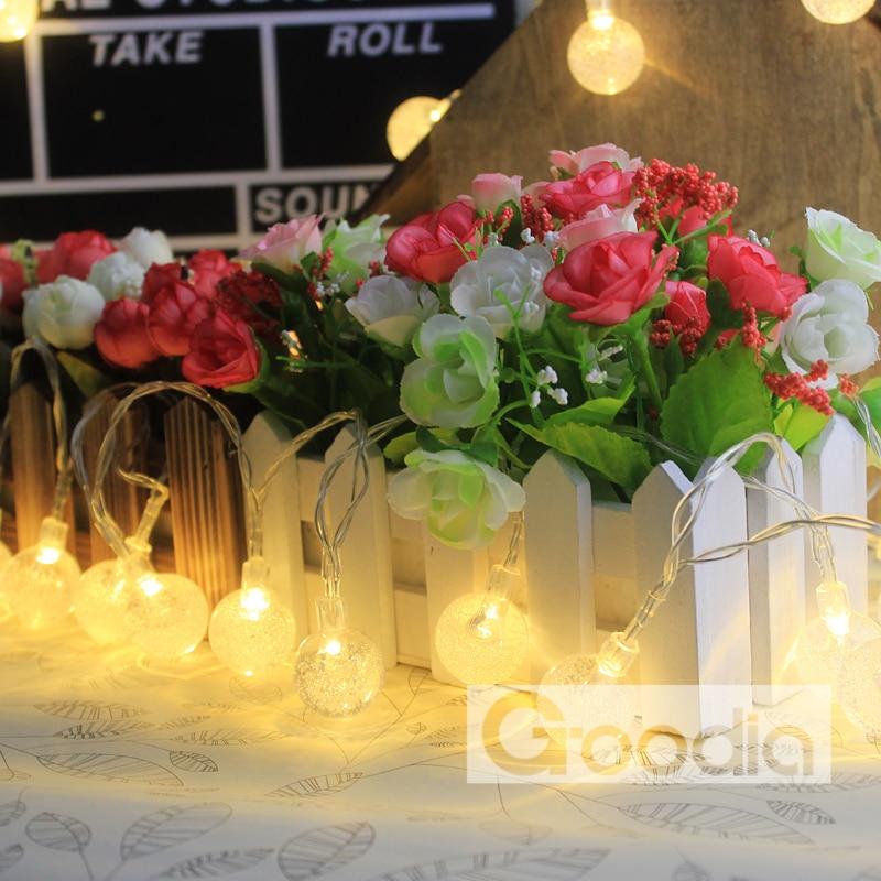 Lumières de Noël de batterie 175 pouces 40 LED guirlande lumineuse - Éclairage festif - Photo 2
