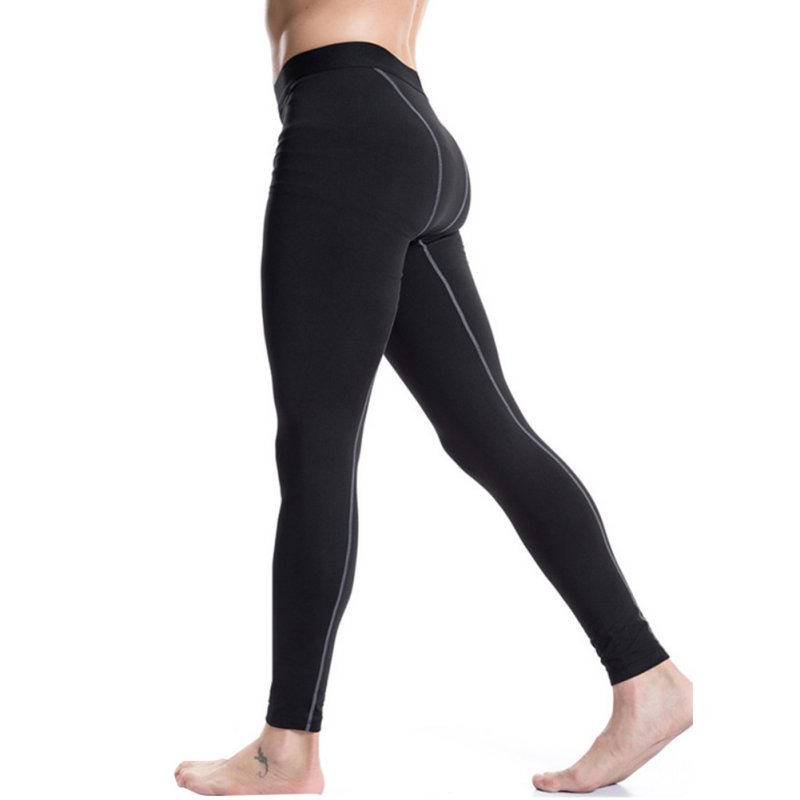 Men Winter Warm Plush Long Thermal Pants Base Layer Tight Underwear Trouses