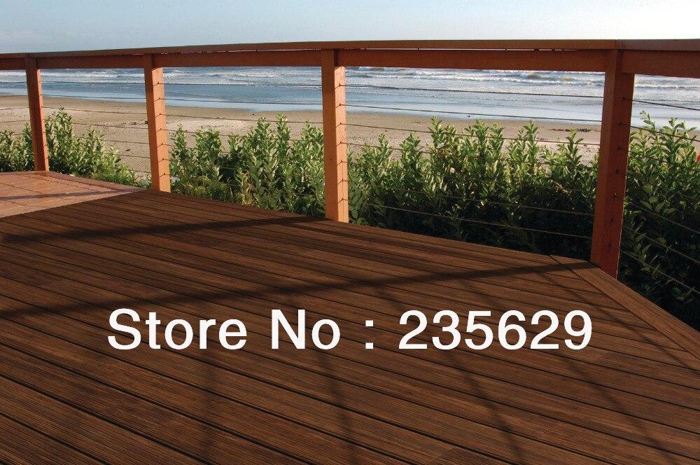Ecofriendly bamboe terrasplanken voor outdoor erea donkere