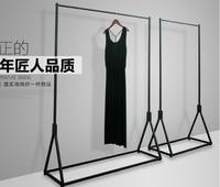 Metal Folding Clothes tree coat hanger Garment Dress On Wheels Mesh Shoe Rack Clothes Rack Stand Home shop mall props