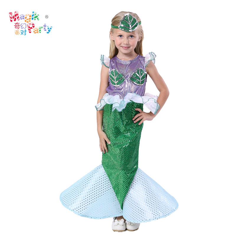 Halloween Children 39 s Performance Costume Cosplay Costume Girl Mermaid Dress Princess Clothing Fishes Costume in Girls Costumes from Novelty amp Special Use