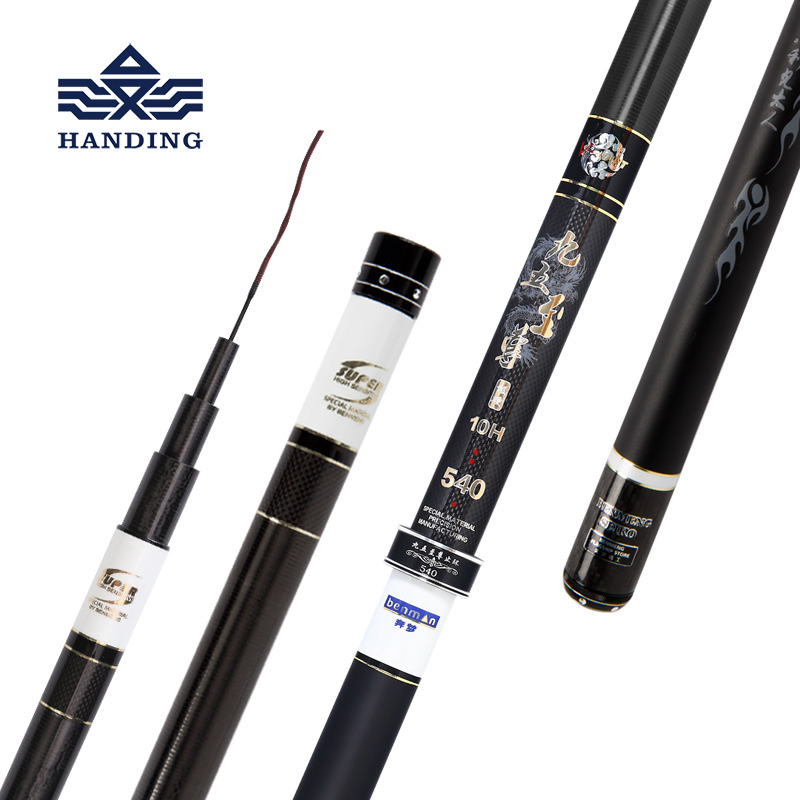 Handing 10H pesca Stream Fishing Rod Carbon Fiber Telescopic fishing rod Carp Feeder Fishing Rod Ultra Light Taiwan Fishing rod mjkaa