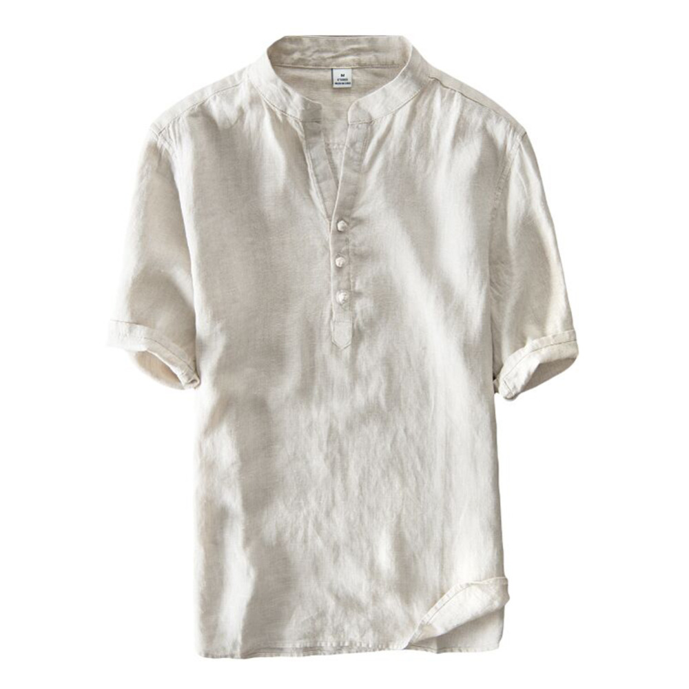 bbe25512b22 White Linen Short Sleeve Shirt - Cotswold Hire