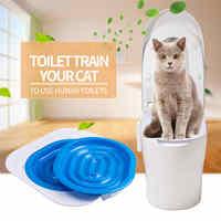Hoge Kwaliteit ABS Huisdier Wc Trainer Puppy Kattenbak Kattenbakvulling Trainer Katten CeaningTrainingToilet Levert Huisdier Toilet Trainer