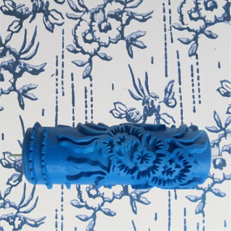 Us 10 3 8 Off Tools Accessories 5inch 3d Rubber Wall Painting Roller Blue Paint Roller Wall Decoration Without Handle Grip 075yb In Paint Tool