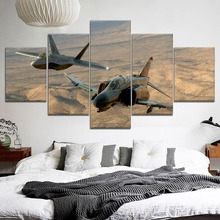 Hot Sell 5 Piece HD Print Jet Fighter Military Poster Cuadros Paintings on Canvas Wall Art for Home Decorations Decor