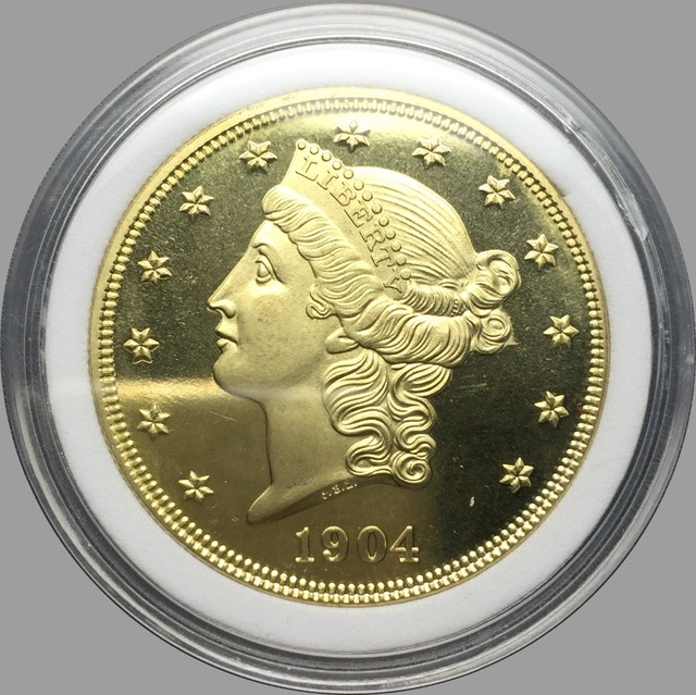 US $1 45 42% OFF|United Stated Liberty Head Gold coins 1904 1904 S Value  Twenty Dollars Brass Copy Coin-in Non-currency Coins from Home & Garden on