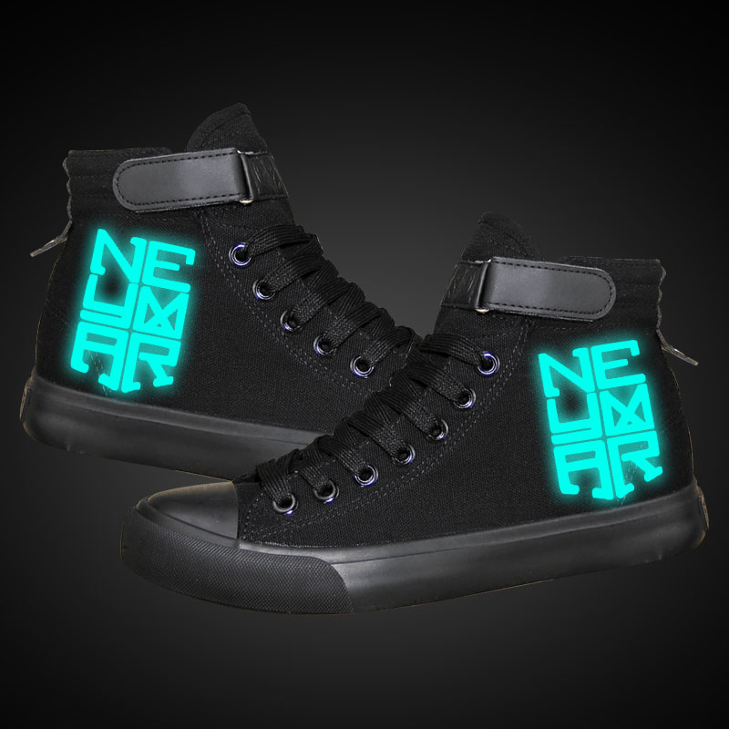 HOT SALE Neymar canvas shoes flat student Casual shoes gift for teenagers high quality luminous printing shoes