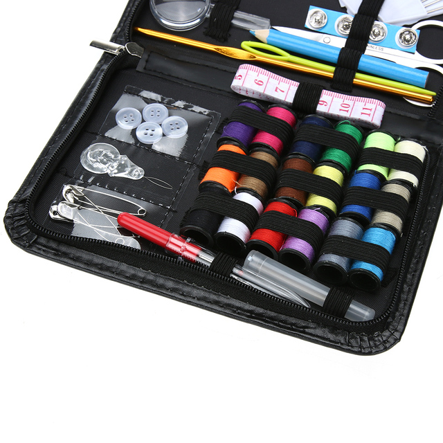 91Pcs/set Portable Mini Sewing Box Set Travel Household Sewing Kit Storage Bags Sundries Organizer Home Sewing Accessories