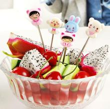 Cartoon stainless steel fruit fork set fashion fruit sign salad fork 8 Pieces/Lot