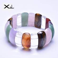 цены Natural Crystal Stone Bracelet Jewelry Handmade Natural Stone Beads Bracelet Man's Bracelets Creative Gifts
