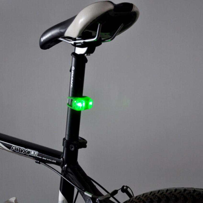 6ks mini nepromokavé silikonové horské kolo cyklistika brouk výstražná světla přední zadní zadní svítilna příslušenství pro jízdní kola