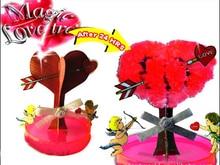 iWish Visual 2017 7x7cm DIY Red Magic Big Growing Paper Dragostea Tree Tree Kit cresc Magic Copaci Crăciun Copii Jucării pentru Copii 2PCS