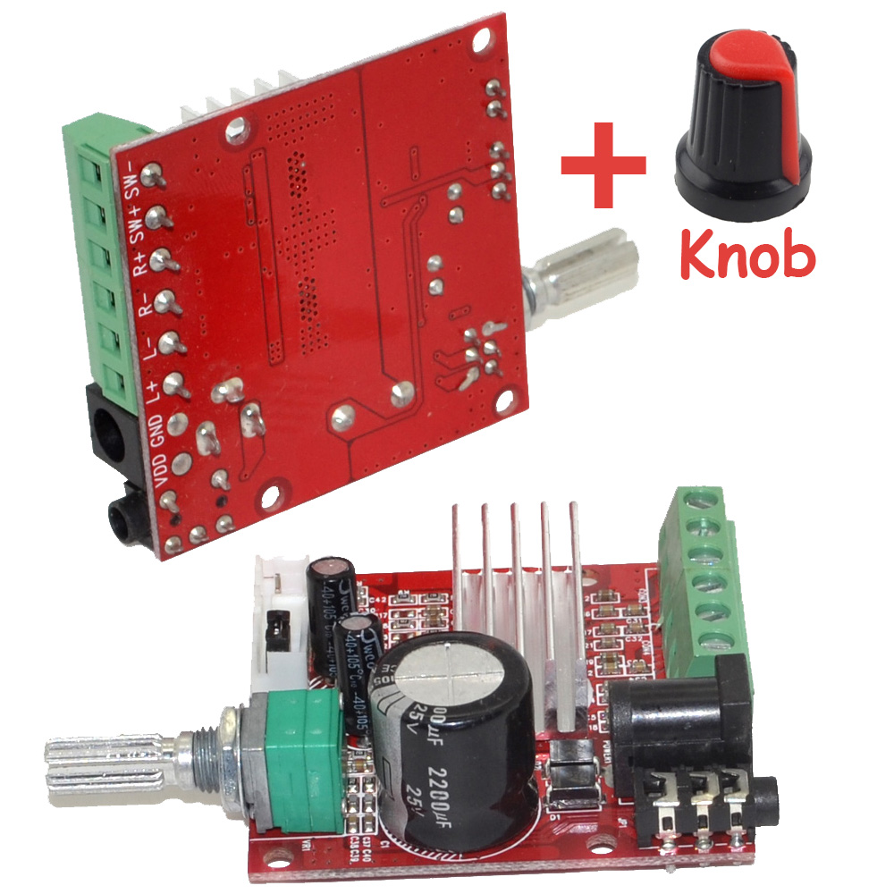 Wholesale Brand New Mini HI-FI High Power 2.1 DC10-18V Digital Amplifier Board 15W*2+30W Class D Amplifier with Knob-10000622