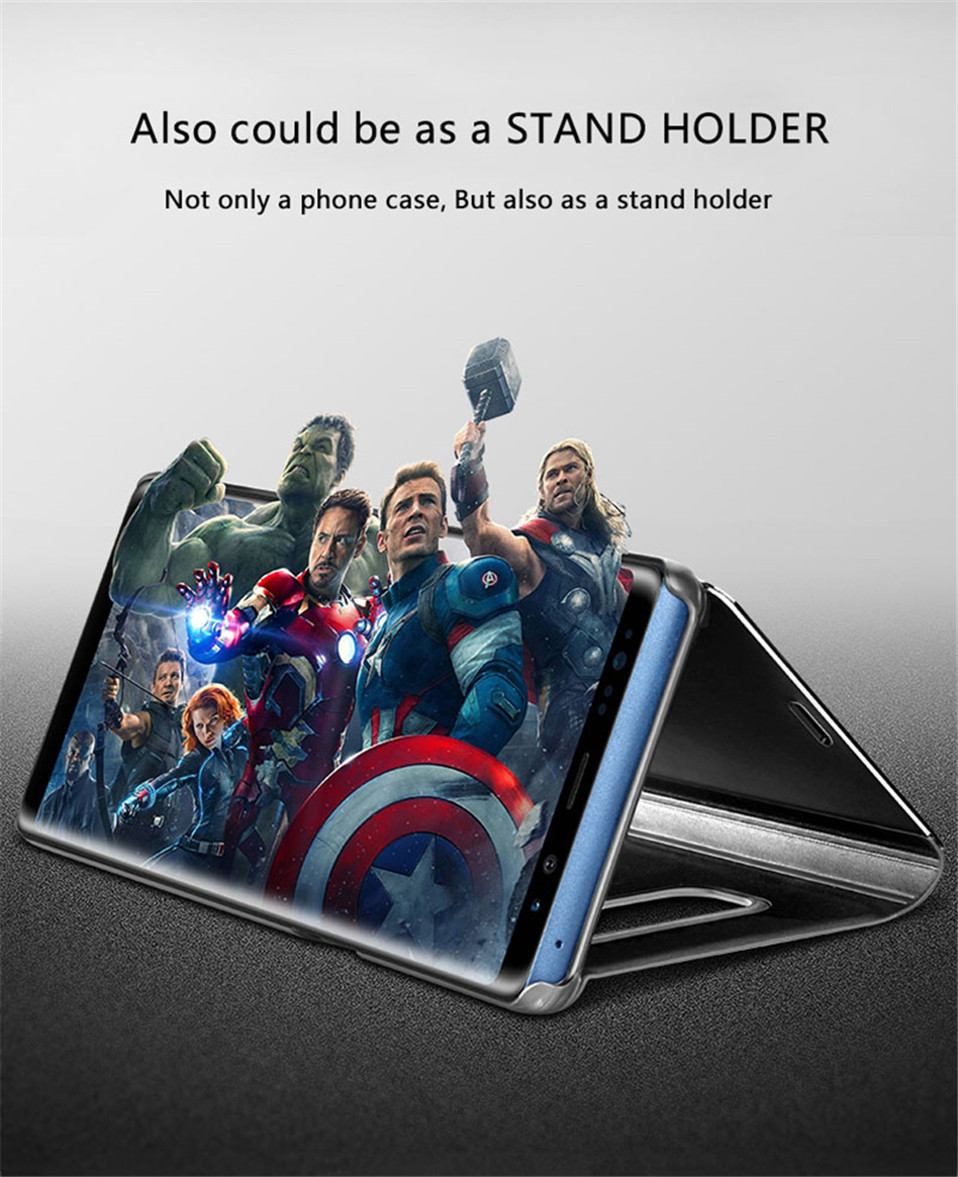Smart Flip Stand Mirror Case For VIVO Y75 Y 75 Case Clear View PU Leather Cover For VIVO Y75 Case Cover for VIVOY75 in Fitted Cases from Cellphones Telecommunications