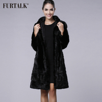 FURTALK New Arrivals 100% Real Mink Fur Coat Winter Women Long Mink Fur Coat Fur Jacket for Women