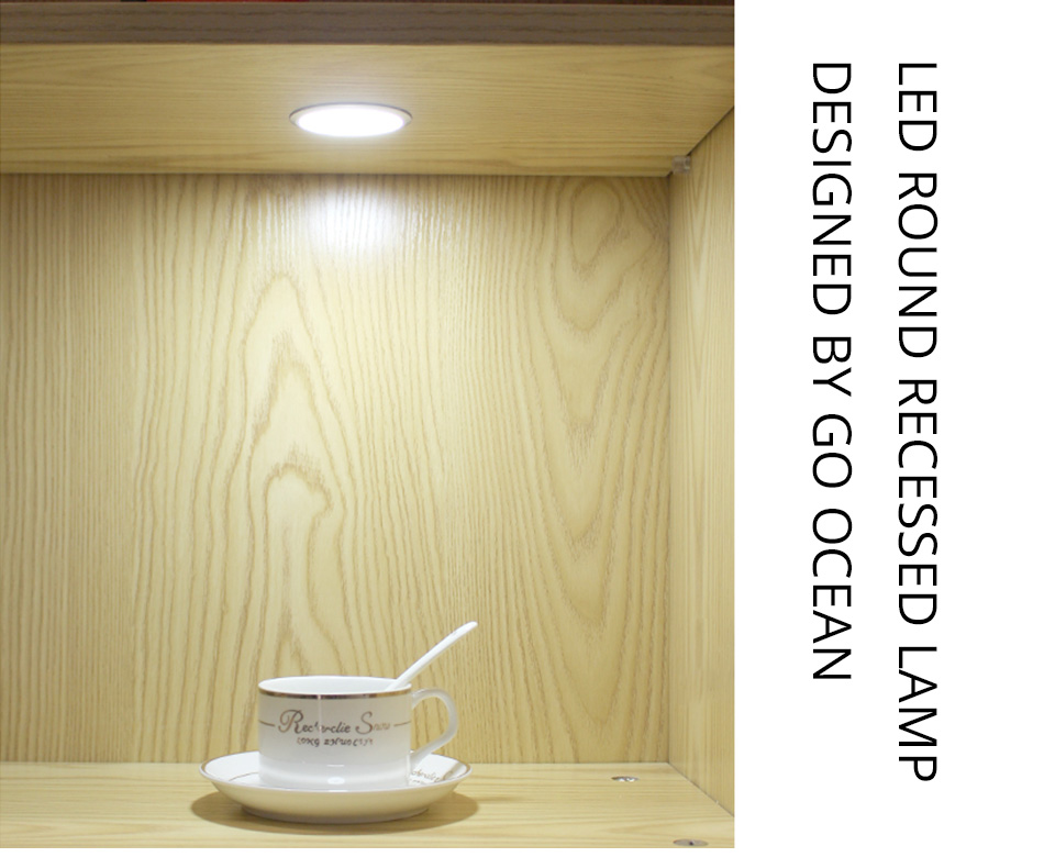 Under Cabinet Light LED 12V 3W Aluminum Cupboard Kitchen Closet Puck Wardrobe Furniture Lamp Counter Showcase Bookshelf Lighting (1)