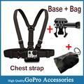 Adjustable Elastic Chest Mount Strap Belt Base Bag for Gopro Accessories Hero 5 4 3 SJCAM Sj4000 EKEN H9 Xiaomi Yi Action Camera