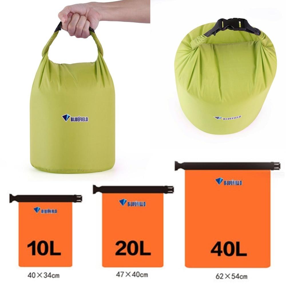 Draagbare 10L 20L 40L Waterdichte Dry Bag Outdoor Camping Opvouwbaar Kano Kajak Rafting Sport Opslag Reiskit Apparatuur
