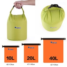 цена на Portable Foldable Waterproof Dry Bag Outdoor Camping Dry Storage Travel Kit Equipment 10L 20L 40L 3 Colors