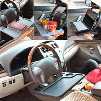 Car Portable Mini Desk Notebook Stand Holder Multi Back Seat Laptop Tray Steering Wheel Computer Food