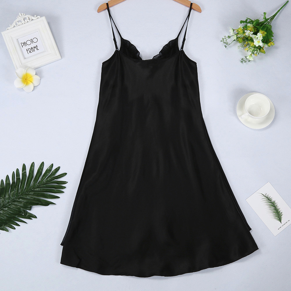 Womail Adjusted-straps Lingerie Sexy Lace Plus Size Nightgown V-neck Sleepwear Nightwear Female Home Night Gown