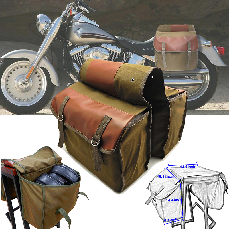 1pc 40*15*30cm Motorcycle Saddle Bag With Two Large Pockets Accessory Part High Quality Universal For Triumph Bonneville 2013