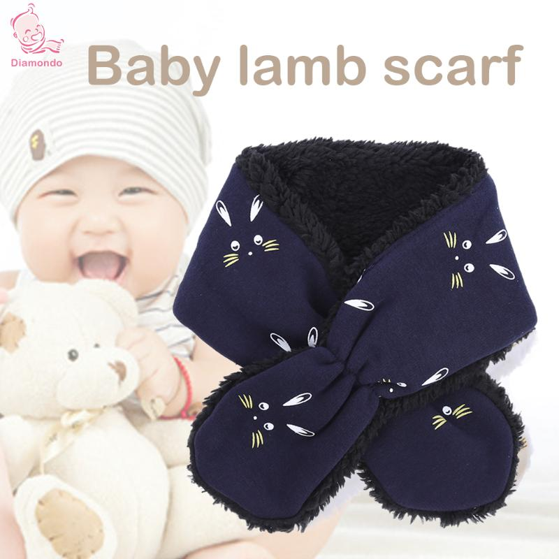 f2cef6d26a378 Baby Thicken Fleece Scarf Rabbit Pattern Infant Kids Knitted Winter Warm  Scarves Newborn Boys Girls Neck Scarf Soft Warm Collar-in Hats   Caps from  Mother ...