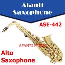 Afanti Music Eb tone /  Gold finish Alto Saxophone (ASE-442)