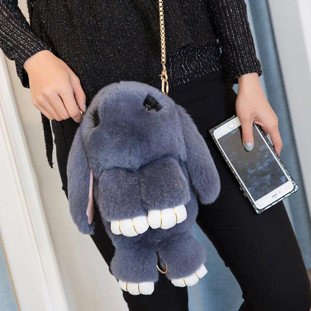 7a10abc6b99e Real Fur Rabbit Handbags Women Luxury Designer Handbag Womens Shoulder Bag  Messenger Bags Brand Crossbody Bags