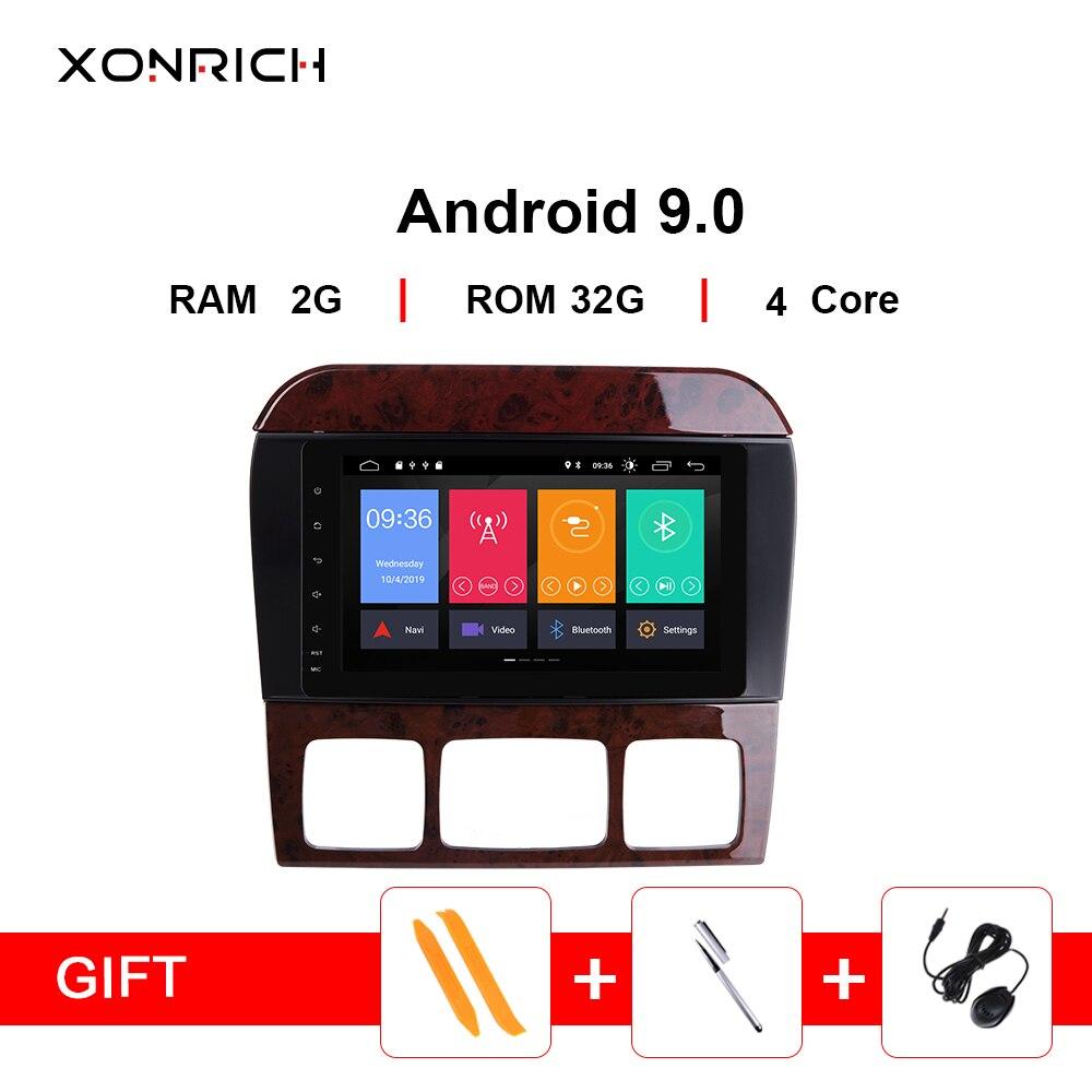 Xonrich voiture lecteur multimédia 2 din Android 9.0 AutoRadio pour Mercedes Benz classe S W220 W215 S280 S320 S350 S500 Audio stéréo