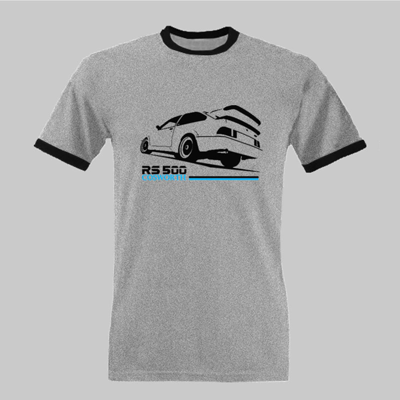 2017 Hot Sale Men S Printed T Shirt Cosworth Rs500 Retro Car Tee