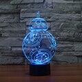 7 Цветов изменение 3D Визуальный Ночная Творческий Звездные войны СВЕТОДИОДНЫЕ Лампы для Детей Сенсорный Выключатель Акриловые Настольная Лампа с USB Линии IY803320